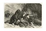 L'Homme a L'Epoque Du Grand Ours Et Du Mammouth Giclee Print by Emile Antoine Bayard