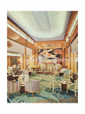 The Grand Hall, Aboard RMS 'Mauretania' Giclee Print