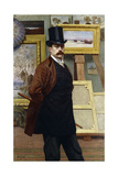 Self Portrait of the Artist in His Studio Giclee Print by Georges Seurat
