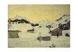 Chalets in Snow Giclee Print by Giovanni Segantini