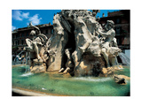 The Four Rivers Fountain, 1648 - 1651 Giclee Print by Gian Lorenzo Bernini