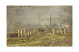 Countryside in Lombardy Giclee Print by Emilio Longoni