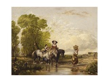 Returning from Market Giclee Print by Sir Augustus Wall Callcott