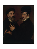 Double Portrait with a Cornet Player Giclee Print by Bartolomeo Passarotti