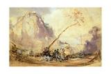 Sorrento Landscape, Ca 1848 Giclee Print by Giacinto Gigante