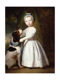 Little Boy with a Dog, C.1757 Giclee Print by George Romney