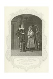 Mr Atkins and Miss Cross Giclee Print by Joseph Kenny Meadows
