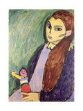 Little Girl with a Doll, 1910 Giclee Print by Alexej Von Jawlensky