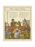 The Happy Family Giclee Print by Thomas Crane