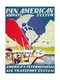 Pan American Airways System Poster, 1929 Giclee Print
