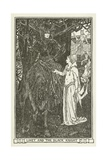 Linet and the Black Knight Giclee Print by Henry Justice Ford