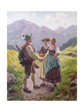 Mountain Sweethearts Giclee Print by Emil Karl Rau