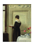 Afternoon Tea Giclee Print by Carl Holsoe