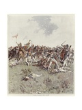A Battle of the French Revolutionary War Giclee Print by Felicien Baron De Myrbach-rheinfeld