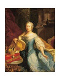 Portrait of Empress Maria Theresa, 1749 Giclee Print by Johann-Gottfried Auerbach