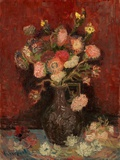 Vase with Chinese Asters and Gladioli Giclee Print by Vincent van Gogh