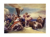 Alfred Inciting the Saxons to Resist the Danes Giclee Print by George Frederick Watts