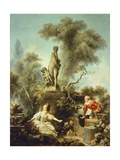 Secret Meeting Giclée-Druck von Jean-Honoré Fragonard