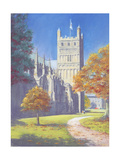 Exeter Cathedral - North Tower, 2003 Giclee Print by Anthony Rule