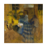 Interior Yellow and Blue, Cat and Child Giclee Print by Edouard Vuillard
