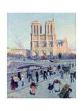 Le Quai St. Michel and Notre Dame, 1901 Giclee Print by Maximilien Luce
