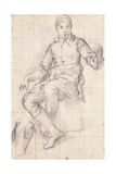 A Seated Boy Giclee Print by Giovanni Battista Naldini