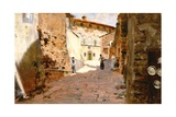 Street in Arezzo Giclee Print by Francesco Vinea