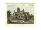 Wells Cathedral, South East View Giclee Print by Hablot Knight Browne