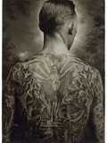 A Tattooed Man Photographic Print