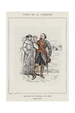Costume De General En Chef, Bergeret Lui-Meme Giclee Print by Charles Albert d'Arnoux Bertall