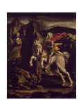 St George and Dragon, 1565-1570 Giclee Print by Lelio Orsi