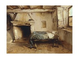 Rustic Interior Giclee Print by Gerolamo Induno