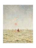 Boats at Sunrise Giclee Print by Alfred Emile Stevens