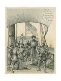 Mutiny Aboard Columbus' Ship the Santa Maria Giclee Print by Andrew Melrose