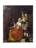Card Players Giclee Print by Pieter de Hooch