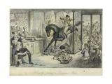 Hercules Takes a Draper's Shop Giclee Print by John Leech