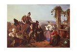 Monaco and Peasants Giclee Print by Filippo Palizzi