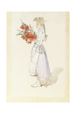 Study for Ute Blaser Sommarvind Giclee Print by Carl Larsson