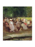 Summer in the Park, C.1881 Giclee Print by Emile Hoeterickx