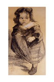 Little Girl with a White Collar, 1905 Reproduction procédé giclée par Franz Marc