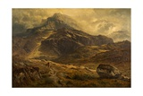 Glyder Fawr, Snowdon Range, Wales, 1881 Giclee Print by Benjamin Williams Leader