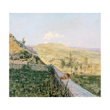 Late August in Pietramala Giclee Print by Telemaco Signorini