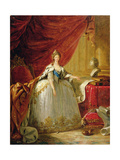 Portrait of the Dowager Tsarina Maria Feodorovna Giclee Print by Elisabeth Louise Vigee-LeBrun