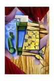 Backgammon, 1913-14 Wydruk giclee autor Juan Gris