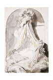 Lover's Bed, Drawing Impression giclée par Jean-Honoré Fragonard