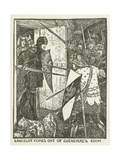 Lancelot Comes Out of Guenevere's Room Giclee Print by Henry Justice Ford