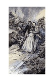 Charles Dickens and the Railway Accident Giclee Print by Neville Dear