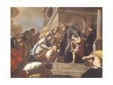 Dream of St Benedict Giclee Print by Francesco de Mura