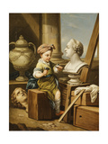 The Four Arts - Sculpture Giclee Print by Carle van Loo