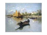 Lagoon, 1888 Giclee Print by Guglielmo Ciardi